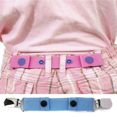 Kids Jeans Pants Belt Adjustable Fashion Stretchy Buckle Clip Belts