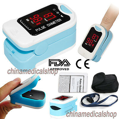 NEW Fingertip Pulse Oximeter SPO2 Blood Oxygen Saturation Monitor with CarryCase