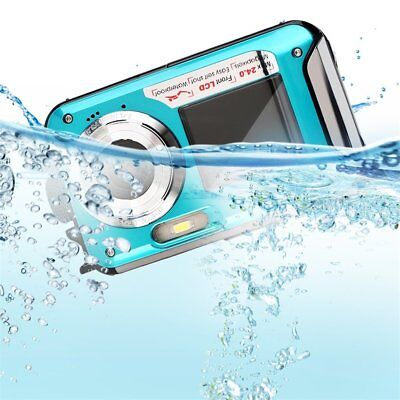 Digital Camera Waterproof 24MP MAX 1080P Double Screen16x Zoom Camcorder FG