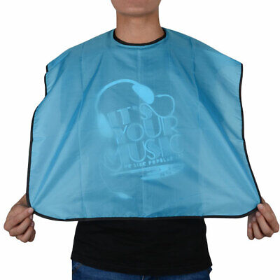 Blue Waterproof Pro Salon Barber Hair Cut Cutting Hairdressing Gown Cape Cloth