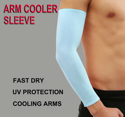 1 Pair Summer Sun Screen UV Block Sport Athletic Arm Cooler Cooling Sleeve Cover