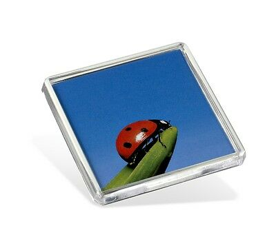 Square Blank Fridge Magnets FS02 for Photo Insert Size 58x58mm. Made in the UK