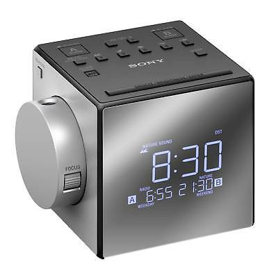 Sony ICFC1PJ Dual Radio Alarm Clock with FM/AM Tuner and Time Projector in Black