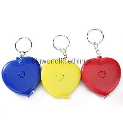 1.5m portable heart-shaped Tape Measure Measuring Ruler w/Key Rings