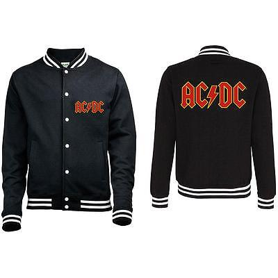 Official Licensed - Ac/dc - Classic Logo Varsity Jacket Angus Rock