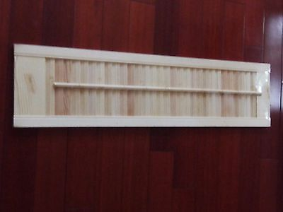 New Unfinished Interior Wood  Shutter Panel 9 x 36 unfinished old stock