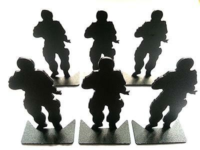 ARMY FORCE Aluminum Modified Silhouette Soldier Metal Target 6pcs Set AF-MC0001