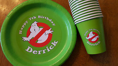 Ghostbusters plates and cups