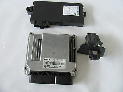 Kit CAS 3,  clé,  Calculateur ECU BOSCH 0281015043  DDE 7811700 BMW 320d N47