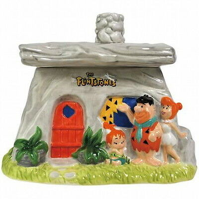 The Flintstones Family House Ceramic Collectible Cookie Jar, NEW UNUSED