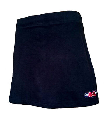 Womens XS TK Ghent Skort BLACK Hockey Netball Tennis skirt