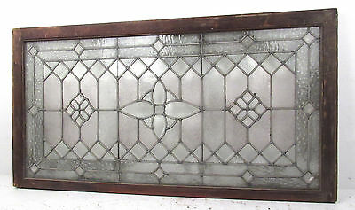 Large Vintage Leaded Etched Glass Window (2762)NJ