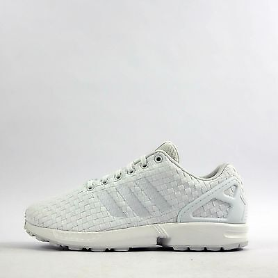 a0078ecf3 ADIDAS ORIGINALS ZX Flux Woven Mens Trainers Shoes Triple White ...