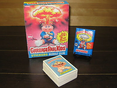 1985 Garbage Pail Kids Series 2 Complete Set (84) Cards + Wax Pack & Wax Box