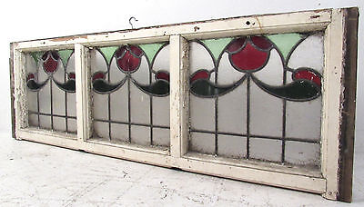 Vintage Art Deco French Stained Glass Hanging Window (2921)NJ