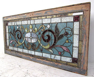 Vintage Antique Stained Glass Window (2931)NJ