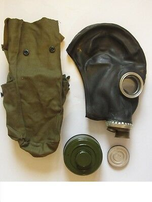 GP5 Genuine USSR Russian GP5 black gas mask full setsize 2 NOS filter 40mm