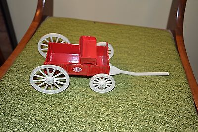 COLLECTIBLE RED WAGON w/White wheels Scale Model die cast Dyersville