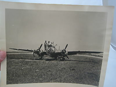 #23 Vintage 1940s  8x10 Photos Soldier Working on Military Japanese Airplane ?