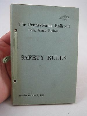 Vintage 1929 Lot Pennsylvania Railroad Long Island Safety Rule Book 5 diff Books