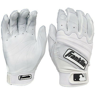 Franklin Natural II Adult Baseball Batting Gloves - Pearl/White - XXL