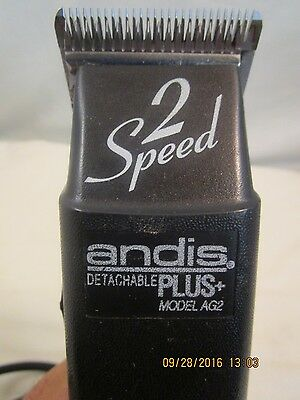 Andis ProClip AG2 2-Speed Detachable Blade Clipper, Super Duty Model