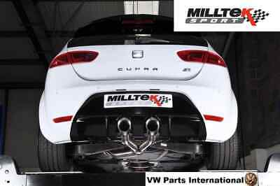 "Seat Leon Cupra R 265PS Milltek 3"" Cat Back Exhaust Non Res 2x Polished Tips"