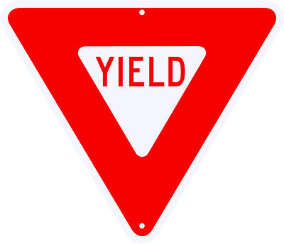 "YIELD SIGN - REAL 24"" x 24"" Engineer Grade Reflective Aluminum - LEGAL"