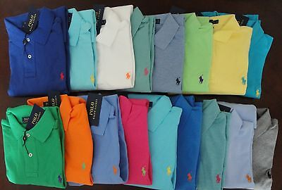 NWT Ralph Lauren Men's SS Classic Fit Solid Mesh Polo Shirt Sz S M NEW $85