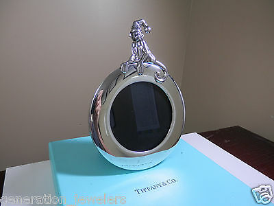 "Rare Tiffany & Co. ""MONKEY CLOWN"" Baby Picture Photo Frame 925 Silver Excellent"