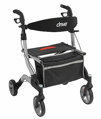 """I-Walker Euro Aluminum Rollator Walker with 7"""" Casters Color: Silver by Drive"""
