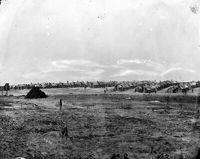 New 11x14 Civil War Photo: Camp of 2nd Wisconsin Infantry near Petersburg