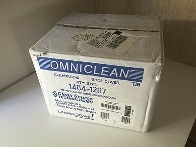OMINICLEAN 1404-1207 Cleanroom Shoe Cover Blue Polypro 300ea/Case 150 Pair