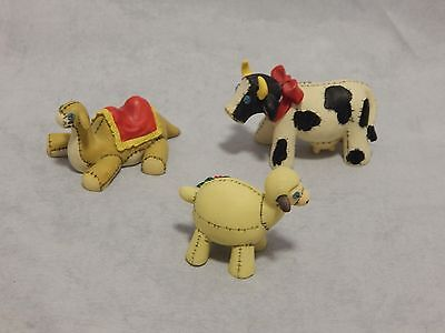 Charming Tails Christmas Nativity Manger Animals Camel, Lamb Cow