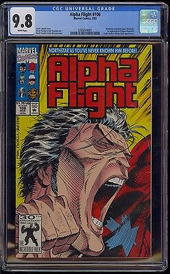 ALPHA FLIGHT #106 CGC 9.8 NORTHSTAR REVEAL ISSUE 1st PRINT 1992 COMIC KINGS