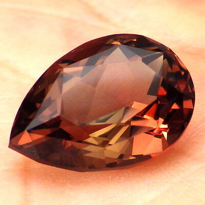 COPPER LAVENDER GREEN DICHROIC OREGON SUNSTONE 6.68Ct FLAWLESS-FOR JEWELRY-READ!