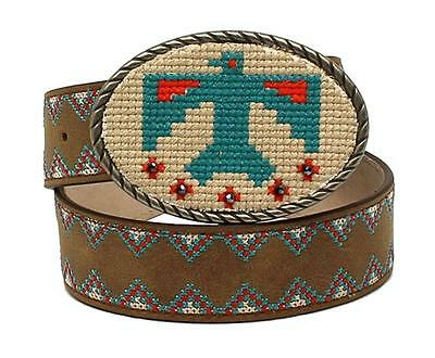 Ariat Western Girl Belt Kids Leather Stitched Thunderbird Brown A1304402