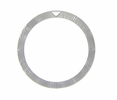 Bezel Insert For Seiko Yacthmaster  Gmt  6309 7002 7S26 Steel Silver Color