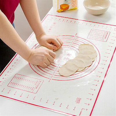 New Silicone Dough Rolling Mat Baking Mat Pastry Clay Pad Sheet Liner Non-Stick