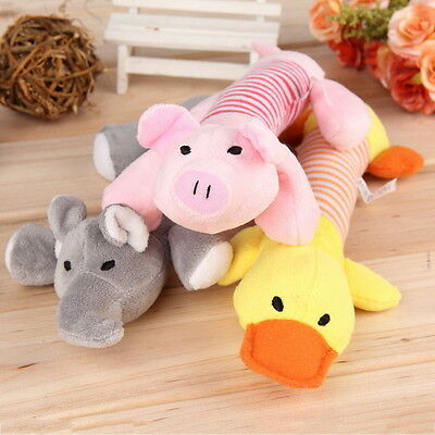 Pet Puppy Chew Squeaker Squeaky Plush Sound Pig Elephant Duck For Dog Toys AL