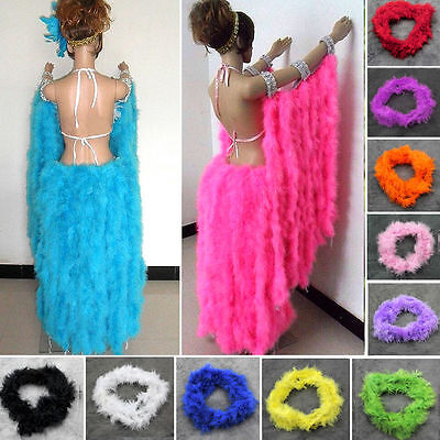 2M Thick Feather Boa Various Colors Marabou For Fancy Dress Party Burlesque Boas