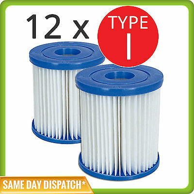 6x Twin Sets of Bestway Cartridge Filter Element Type I For 330gal Pumps - 58093