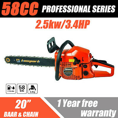 58cc Commercial CHAINSAW 2-Stroke Petrol Pruning Chain Tree Pruning Chain Saw AU