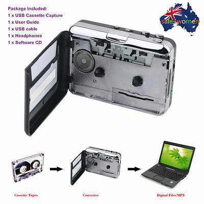 Tape to PC USB Cassette + MP3 CD Converter Capture Digital Audio Music Player @#