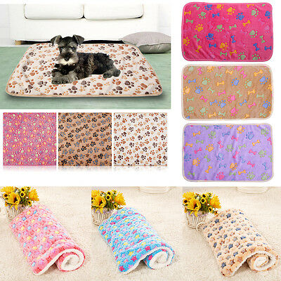3 Colors Warm Pet Mat Small Large Cat Dog Puppy Pad Soft Blanket Bed Kennel #EAL