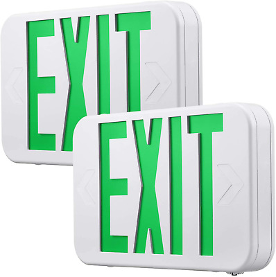 AC 120V/277V Single/Double Face LED Exit Sign – Red/Green Letter