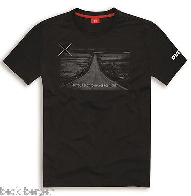DUCATI Graphic Art HORIZON X-Diavel kurzarm T-Shirt schwarz NEU !!