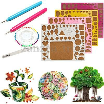 4x Paper Quilling Board Template Slotted Pins Craft Papercraft DIY Tools Kit Set