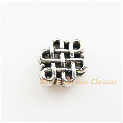 15 New Charms Tibetan Silver Tone Chinese Knot Spacer Beads 9x11mm