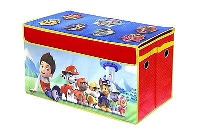 Paw Patrol Collapsible Storage Trunk Kids Toy Box NEW
